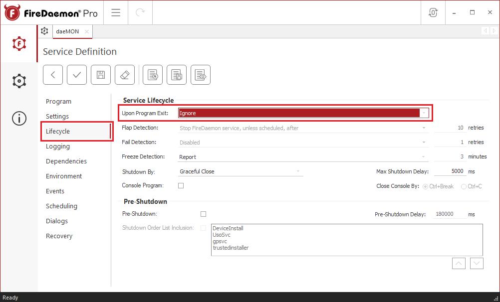 daeMON service definition remote monitoring