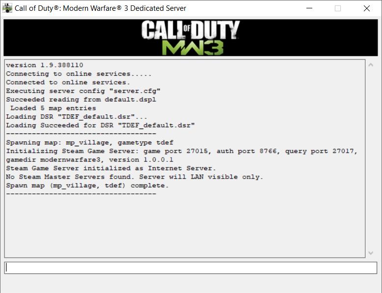 Modern Warfare 3 messages window
