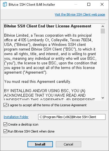 Bitvise SSH Client Installer