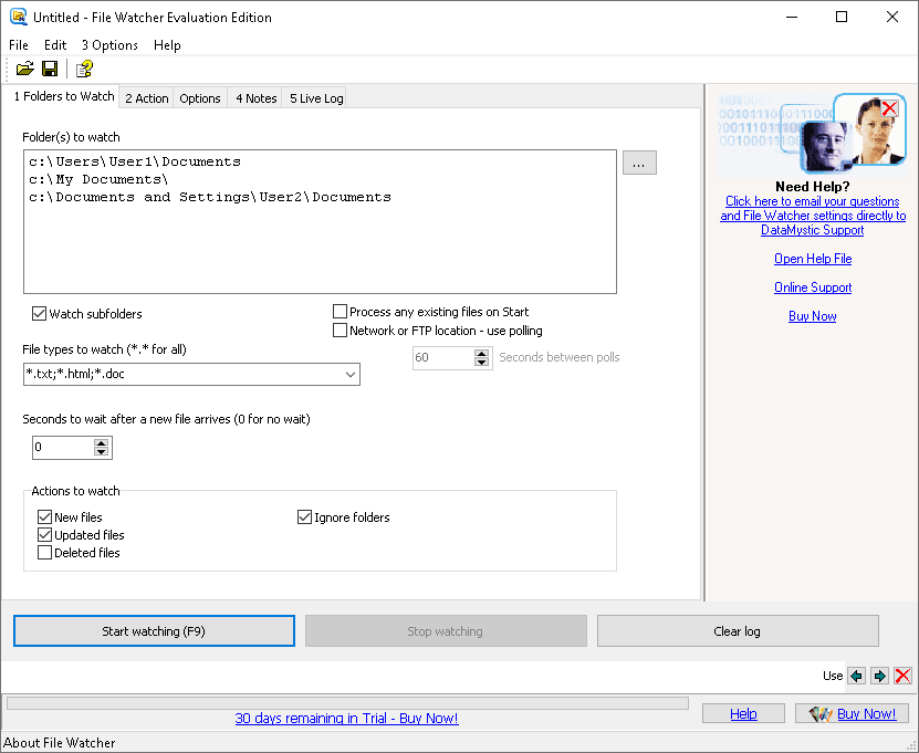 FileWatcher screenshot