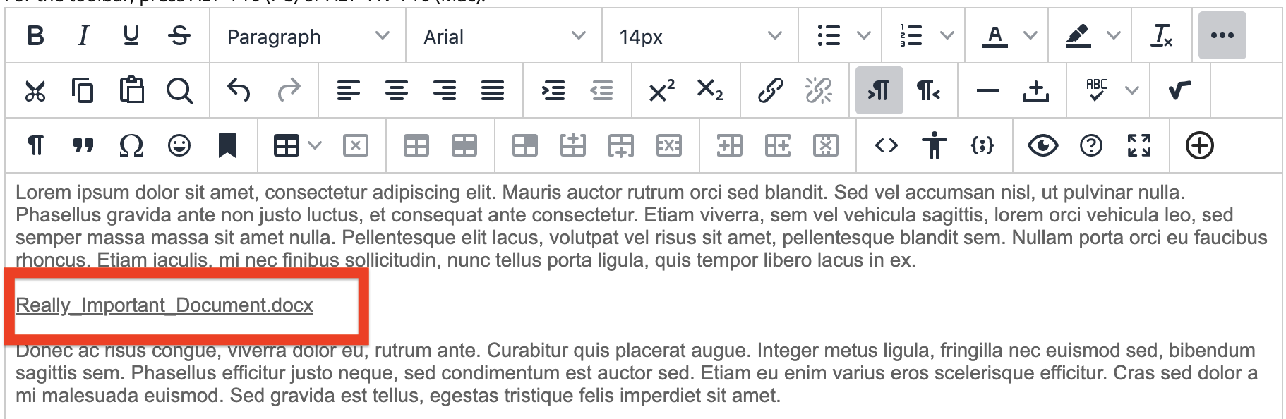 sample image of document inline with text