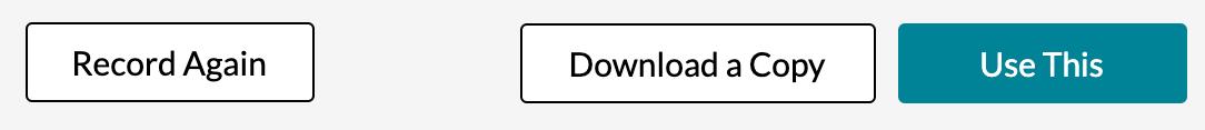 screenshot of recording/saving options