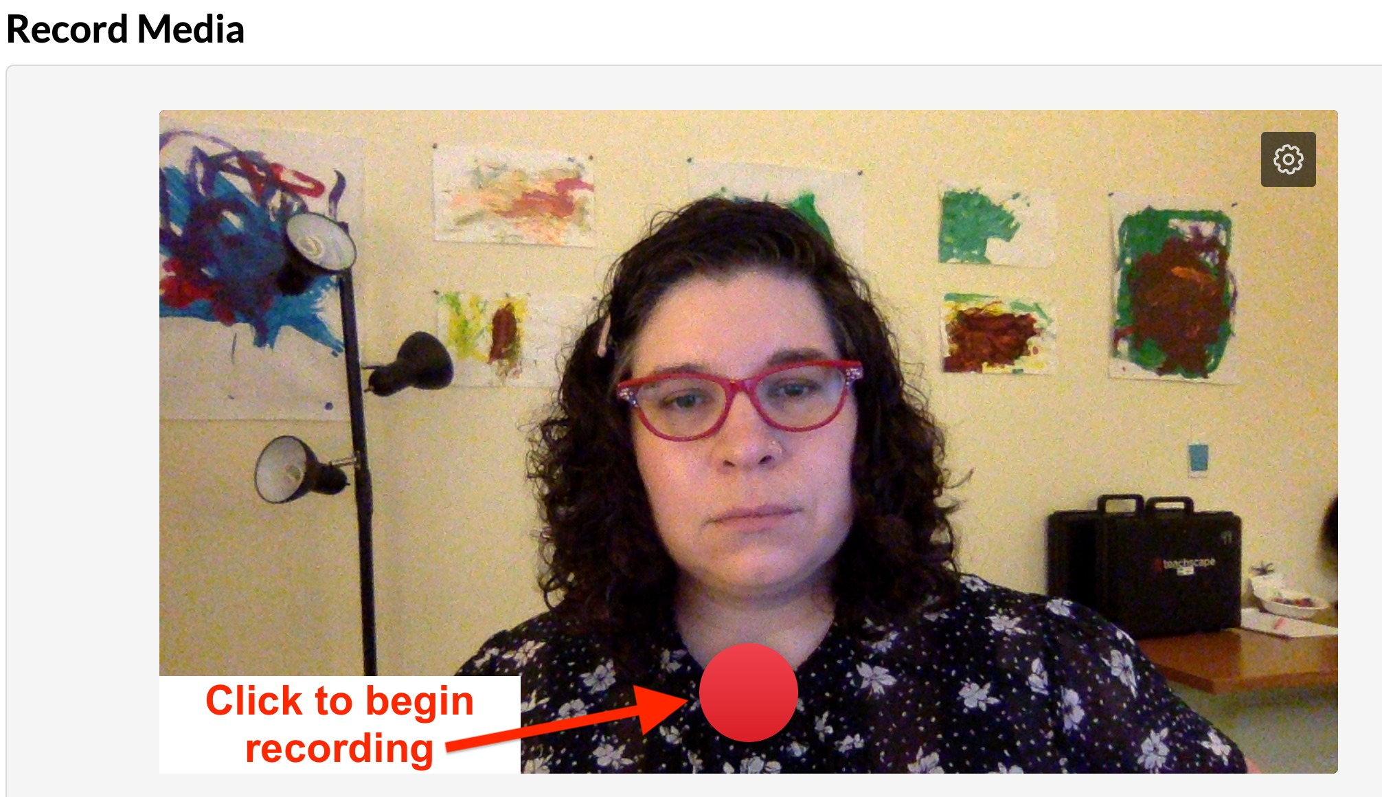 screenshot of record button