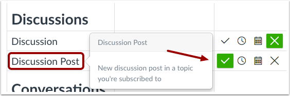 View Discussion Notification Preferences
