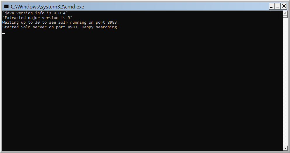 Apache Solr messages window