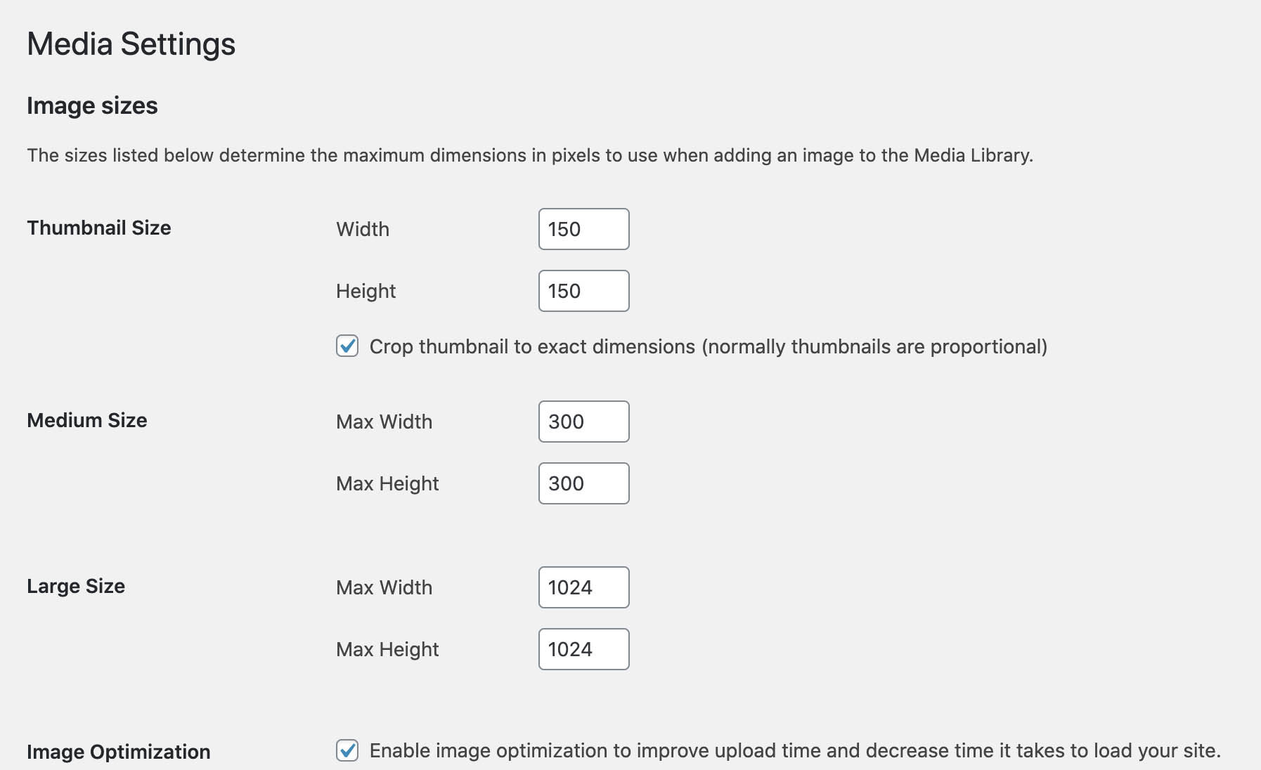Media settings in Journal