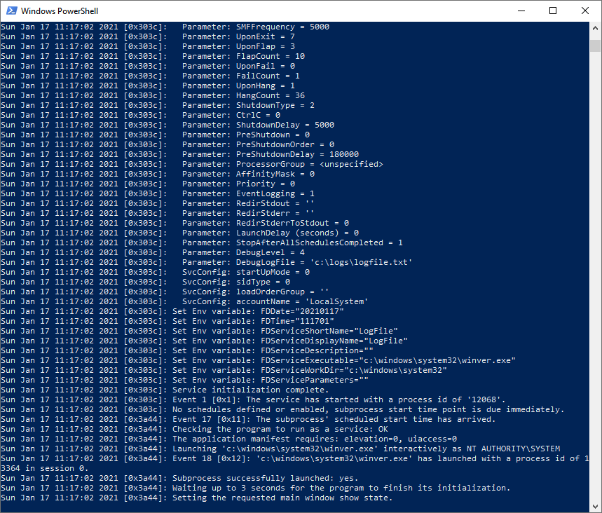 Windows Powershell Tailing a Text Log File