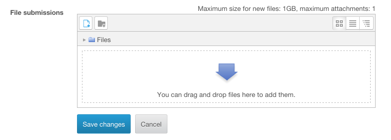 Screenshot showing the file picker