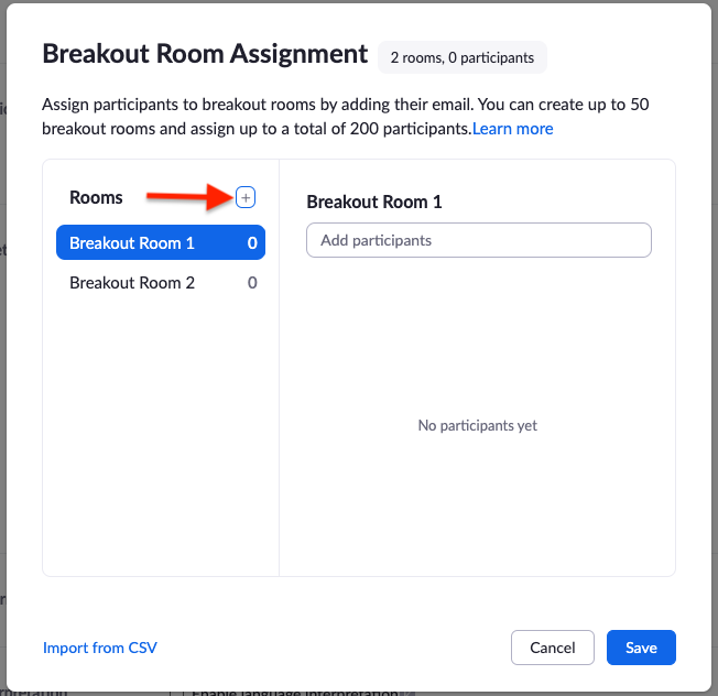 create rooms