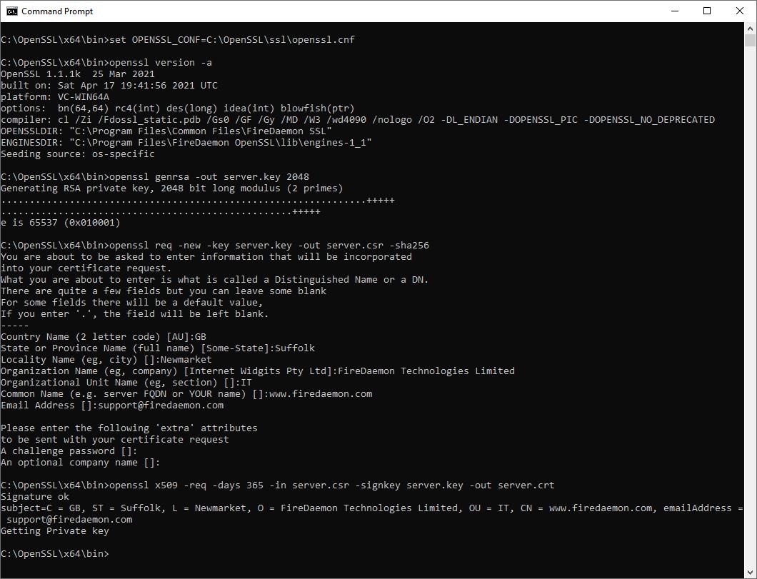 OpenSSL Screenshot