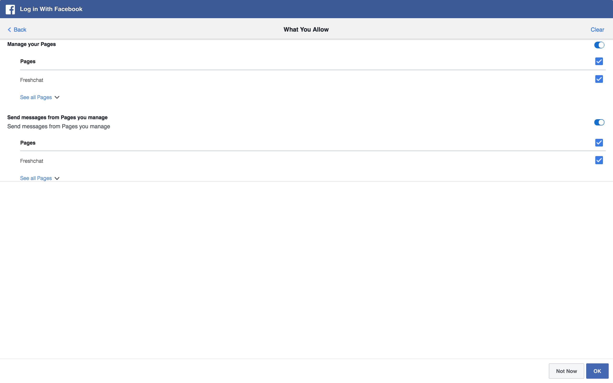 Facebook Integration Guide : Freshchat