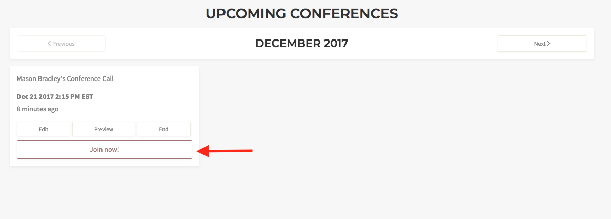 Join a scheduled web conference