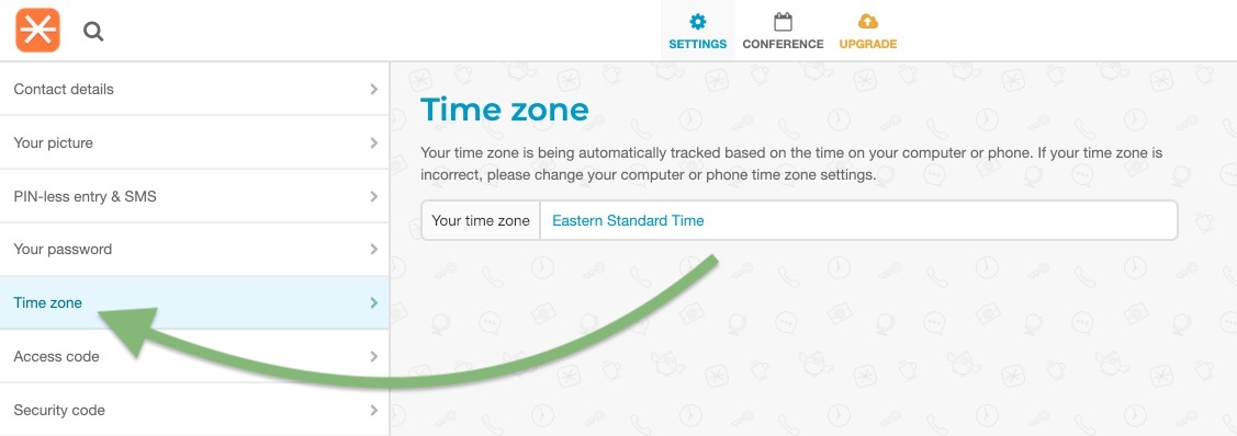 FreeConference TimeZone