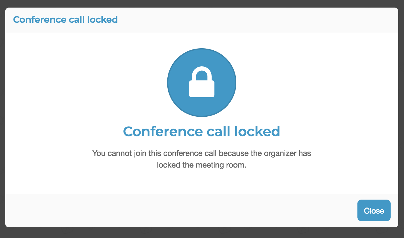 Meeting Lock FreeConference