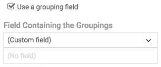 Field Selector for Groupings