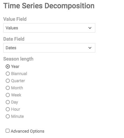Decomposition Options