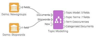 Example Topic Modelling workflow
