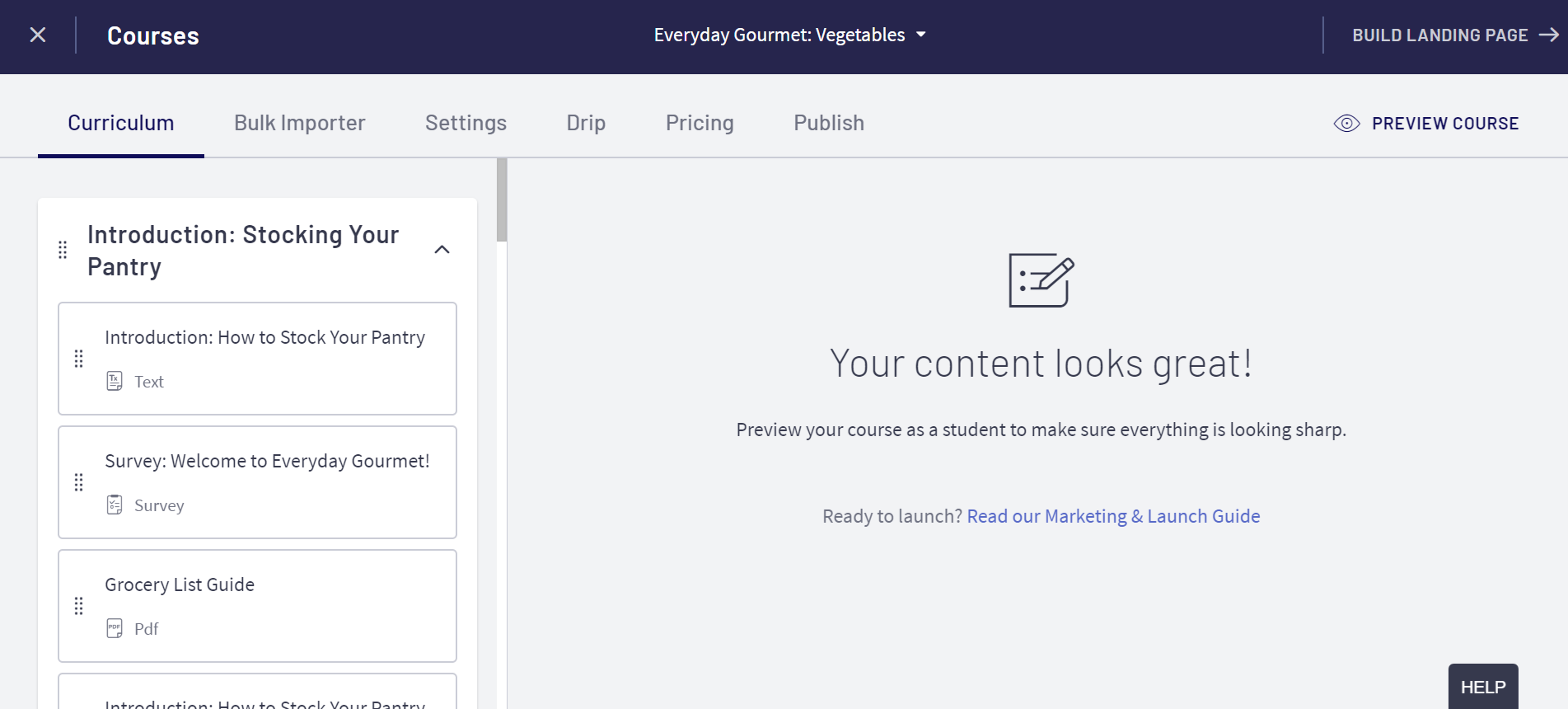 Thinkific Vs Udemy- thinkific page builder