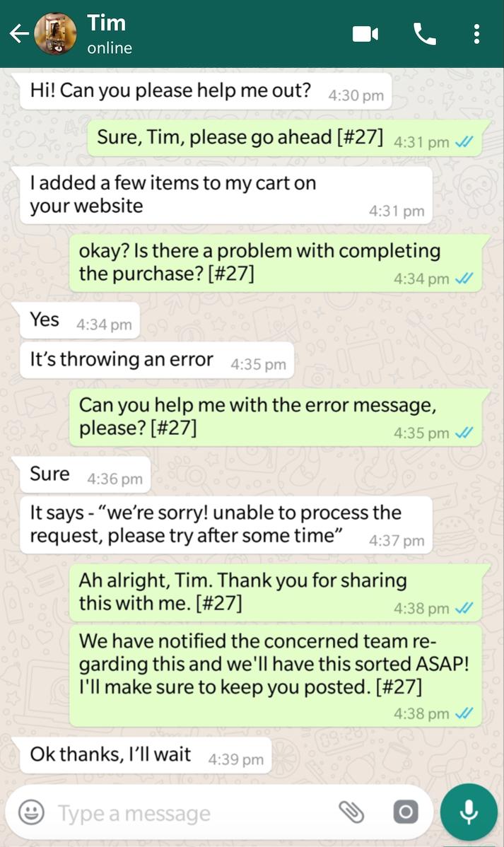 WhatsApp Integration : Freshdesk