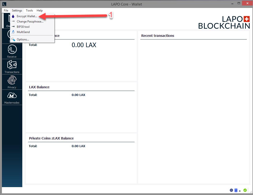 How to password secure your Wallet : LAPO BLOCKCHAIN