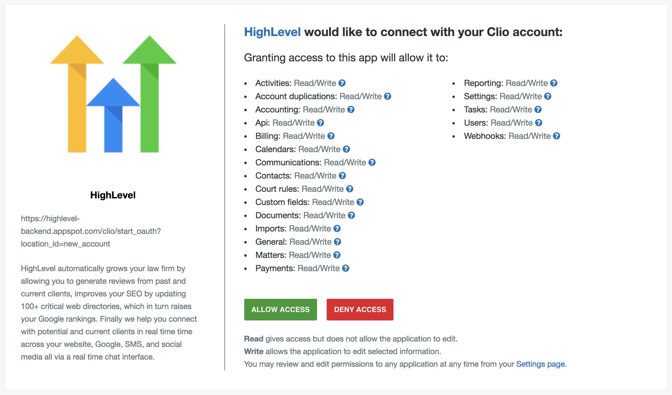 HighLevel – Clio Help Center