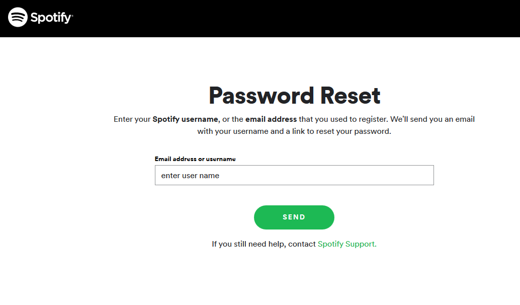 How do i Reset Spotify Password (Forgot Spotify Password