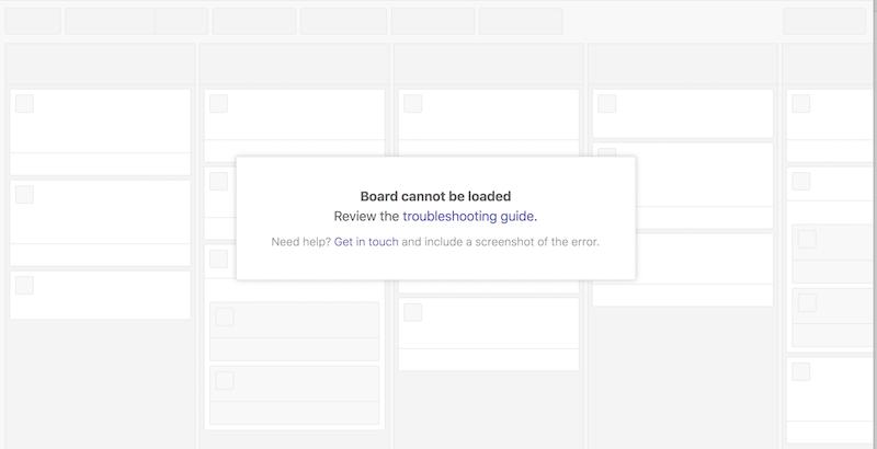 ZenHub Board error: Something is not Zen
