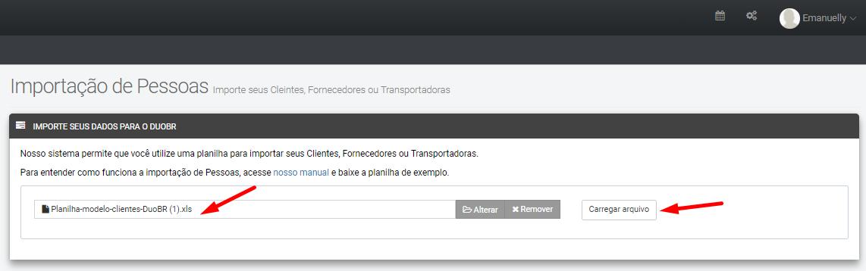 Importando meus clientes para o DuoBR  : Portal de ajuda