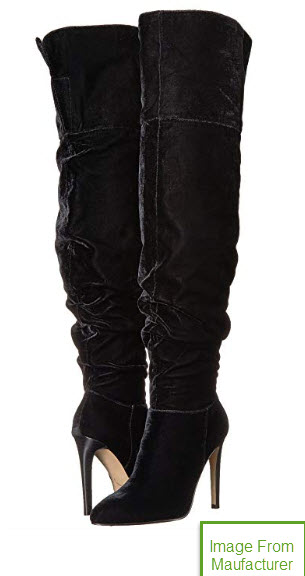 e15ae2b0e04 Details about NEW 6.5 M Thigh High Slouch Over The Knee Boot Black Velvet  The Fix Moriah
