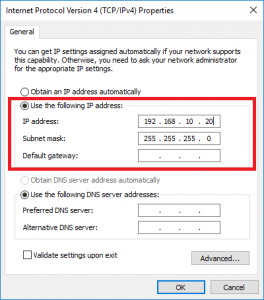 Changing the IP Address Settings on Your Pc | Help Portal