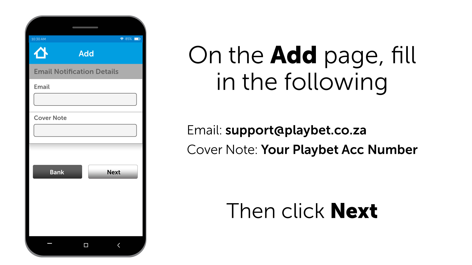 HOW TO: Deposit Funds using Capitec App : Playbet Help Center