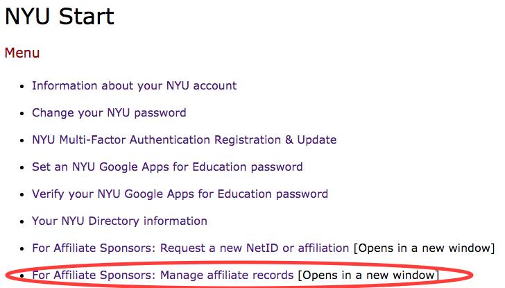 Sponsored Affiliates : NYU Psych & CNS IT