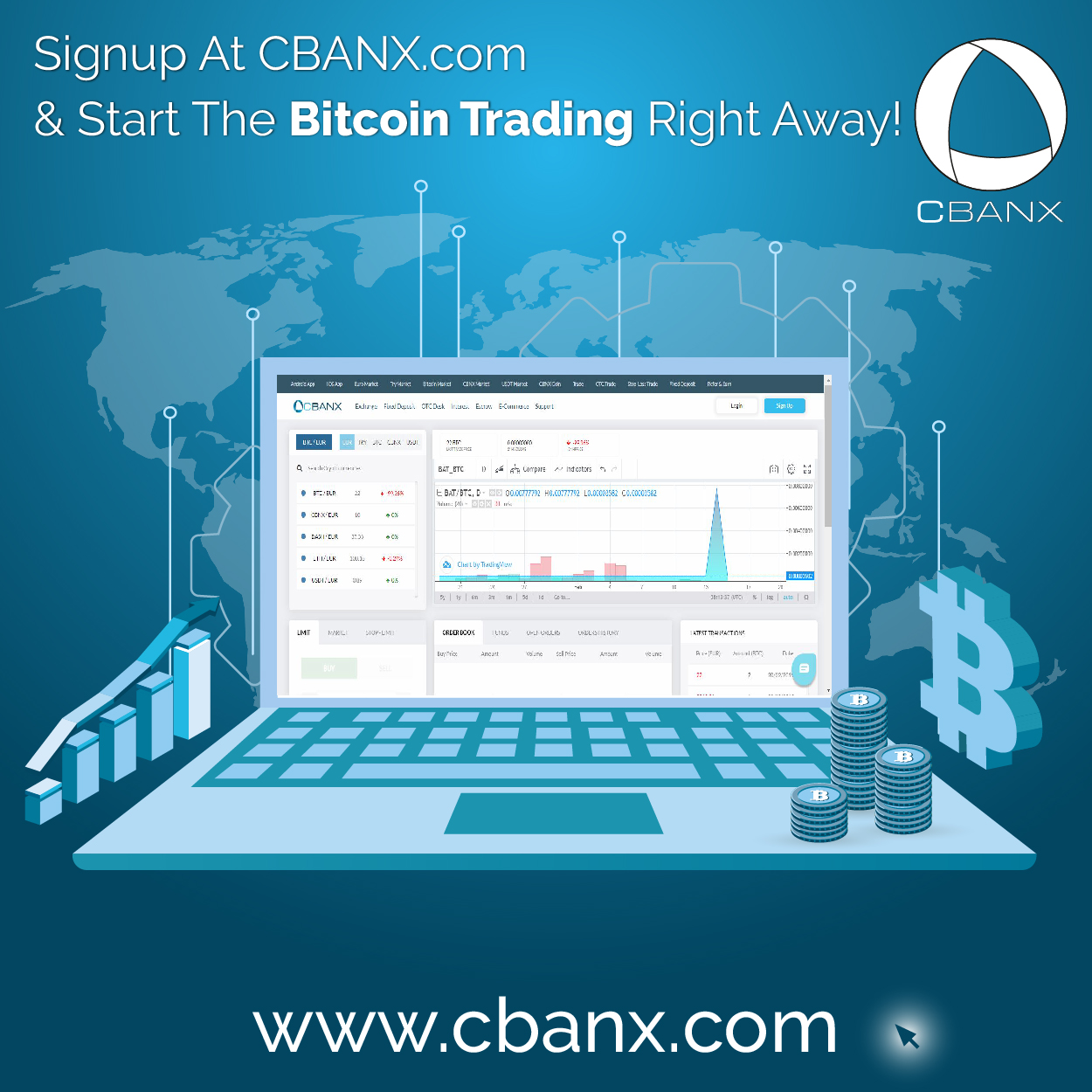 Signup At CBANX.com & Start The Bitcoin Trading Right Away!