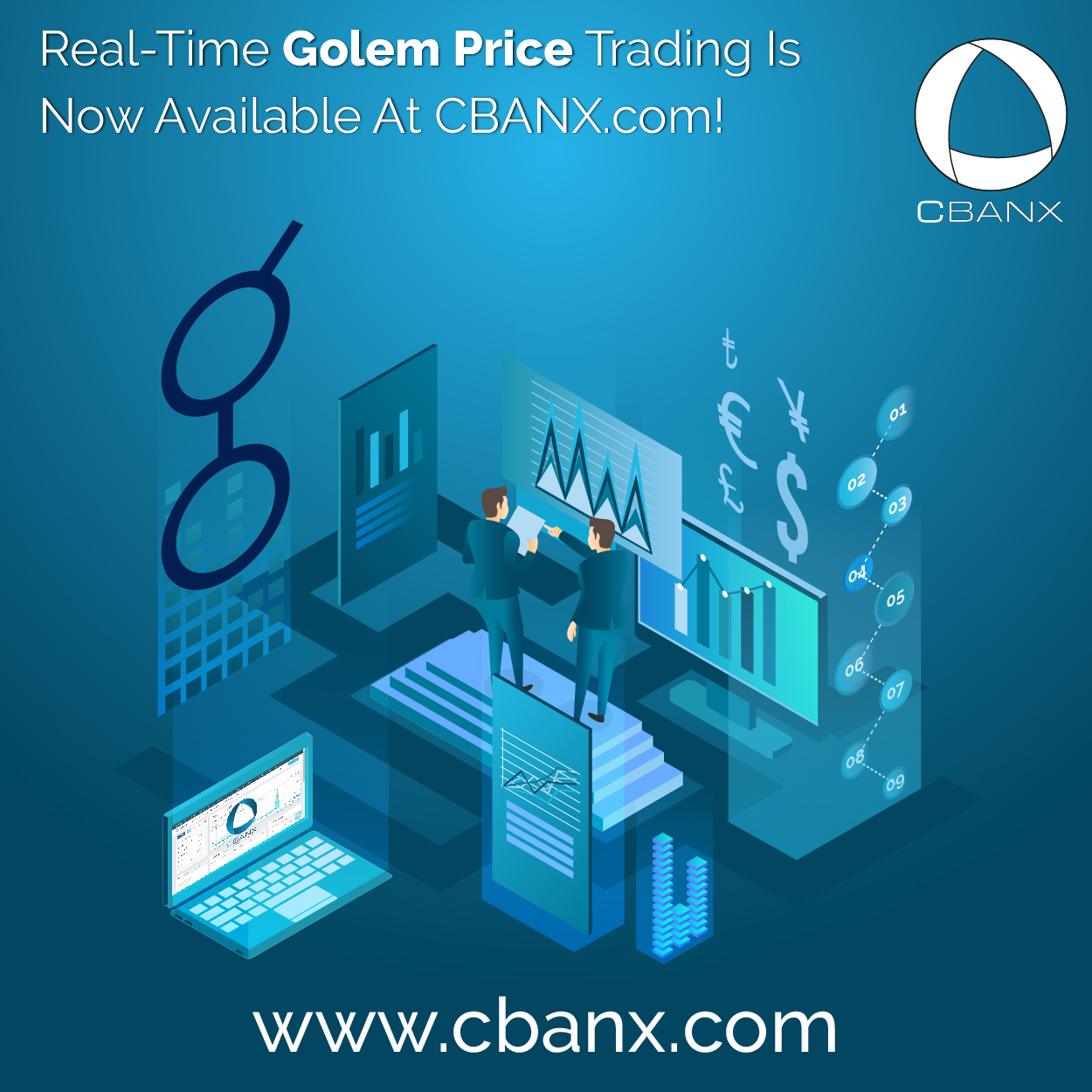 Real-Time Golem Price Trading Is Now Available At CBANX.com!