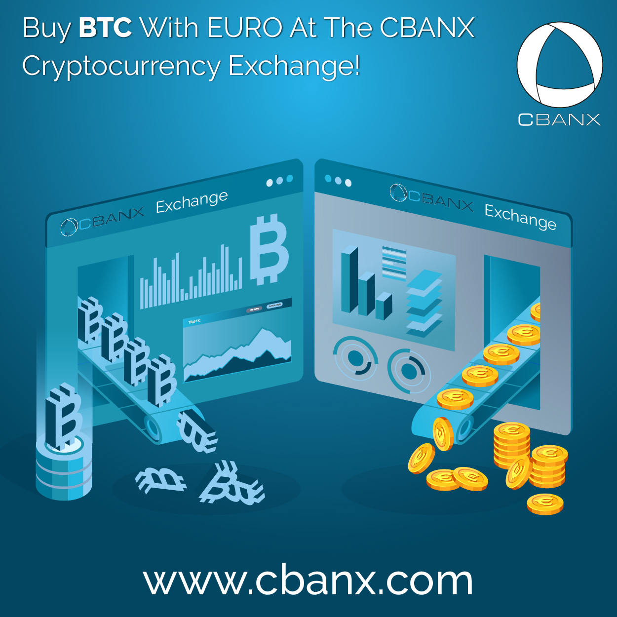 Buy BTC With EURO At The CBANX Cryptocurrency Exchange!