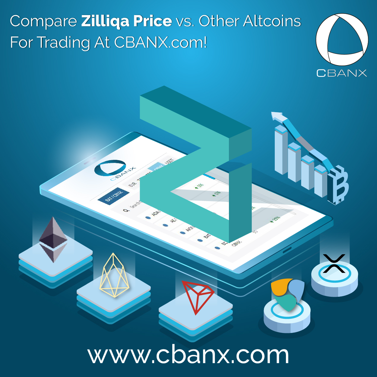 Compare Zilliqa Price vs. Other Altcoins For Trading At CBANX.com!