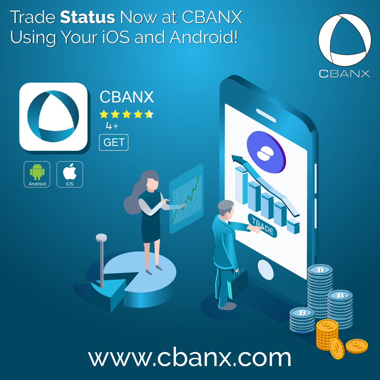 Trade Status Now at CBANX Using Your iOS and Android!