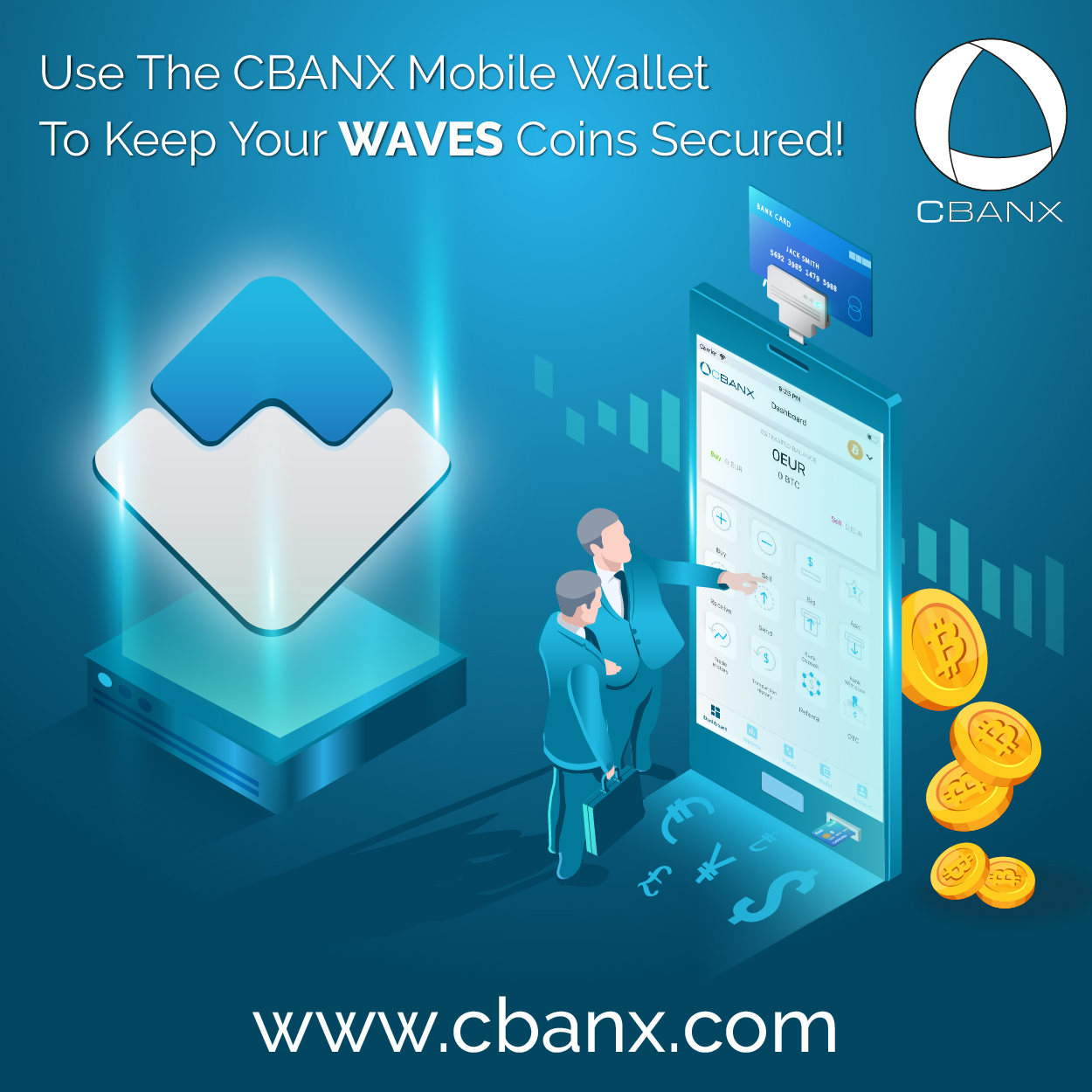 Use The CBANX Mobile Wallet To Keep Your WAVES Coins Secured!
