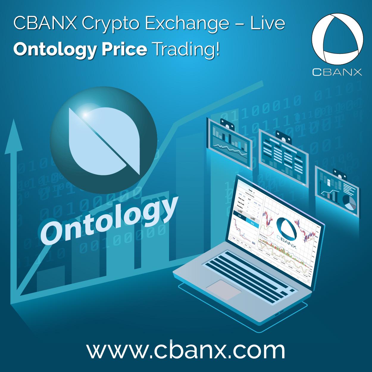 CBANX Crypto Exchange – Live Ontology Price Trading!