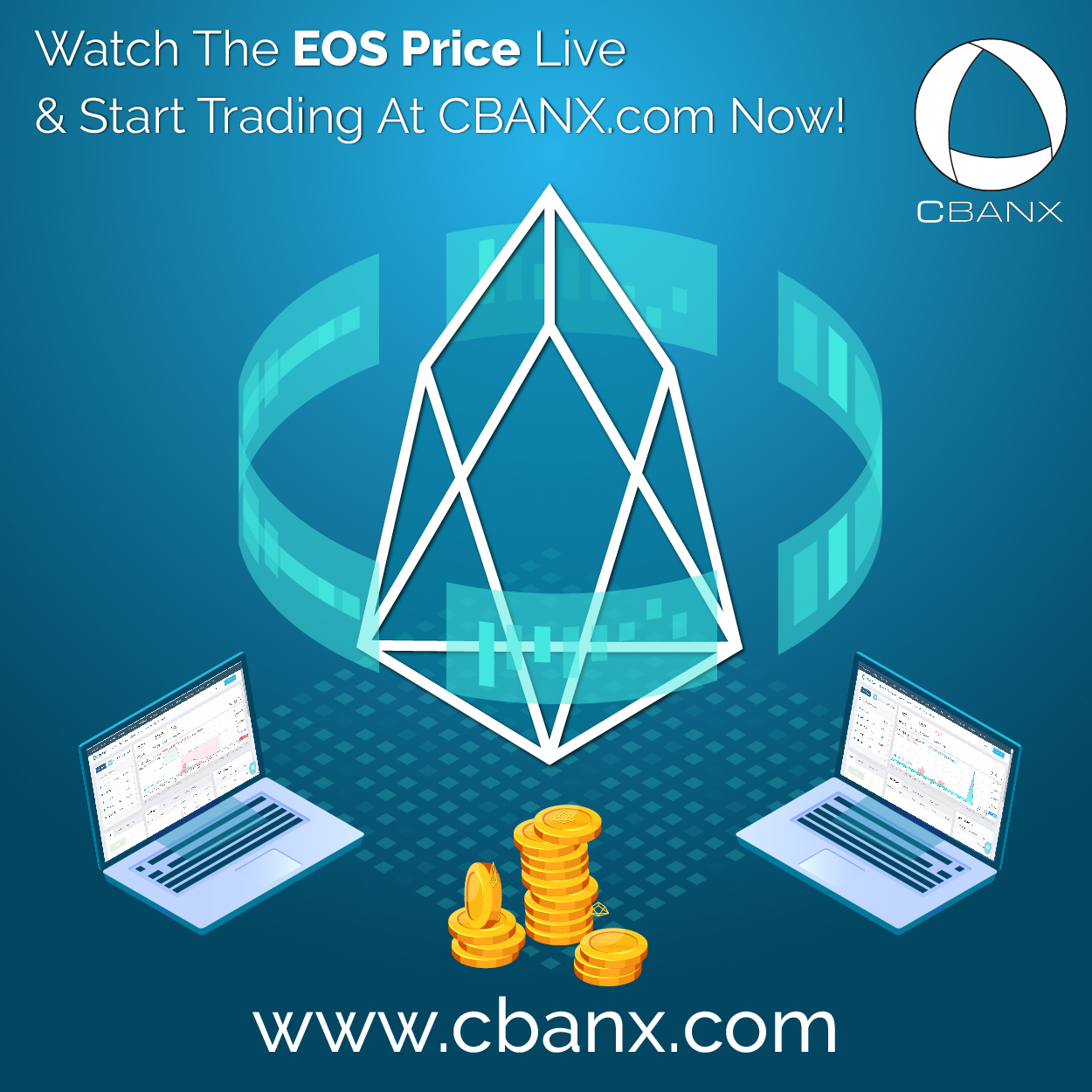 Watch The EOS Price Live & Start Trading At CBANX.com Now!