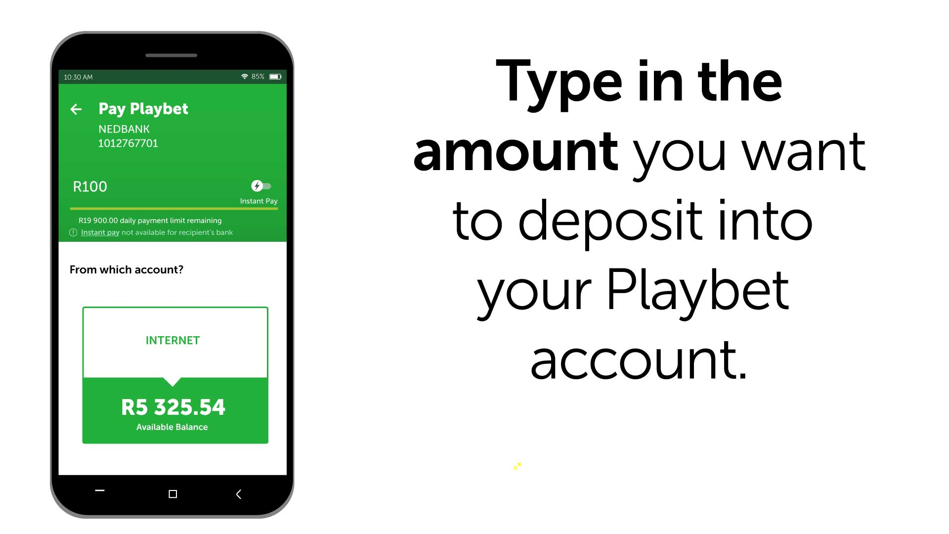 HOW TO: Deposit Funds using Nedbank Money App : Playbet