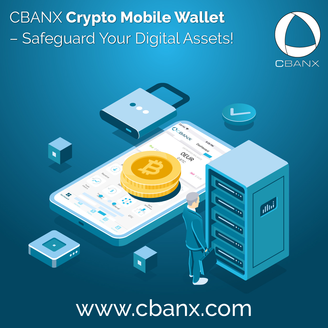 CBANX Crypto Mobile Wallet – Safeguard Your Digital Assets!