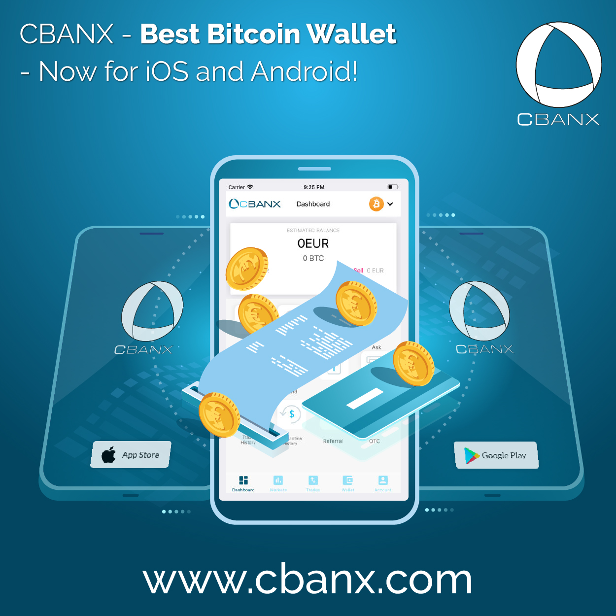 CBANX – Best Bitcoin Wallet – Now for iOS and Android!