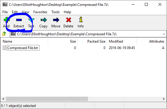 How to Open and Extract a  zip or  rar Folder on Windows