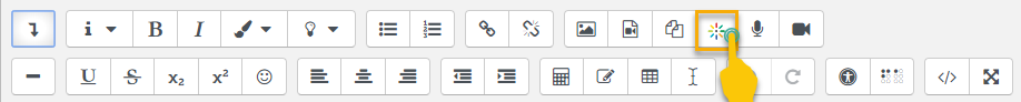 click on embed media button