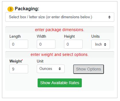 Enter Package Details