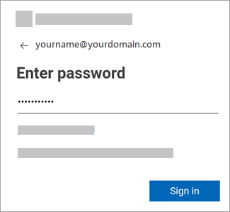 Enter your password for your email account.