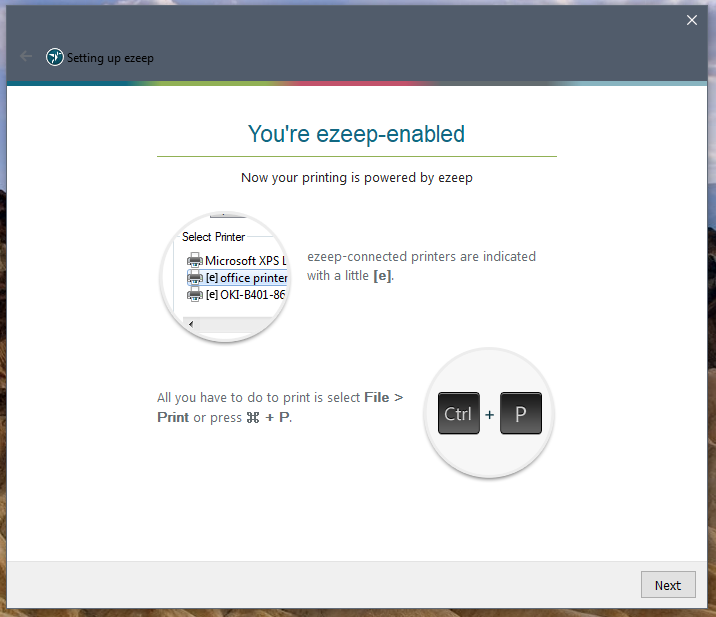 screenshot: notification that the installation was successful