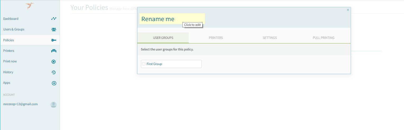screenshot: rename an ezeep policy