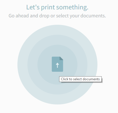 screenshot: click on circle to select a document to print